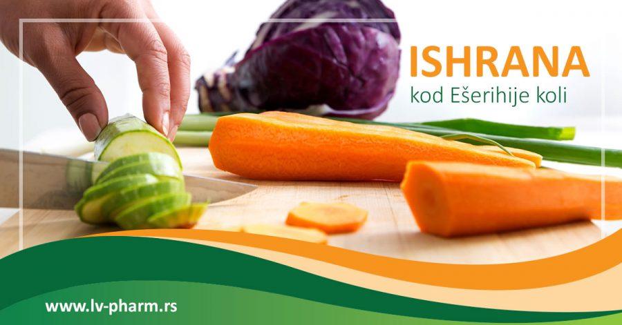 ishrana kod ešerihije koli