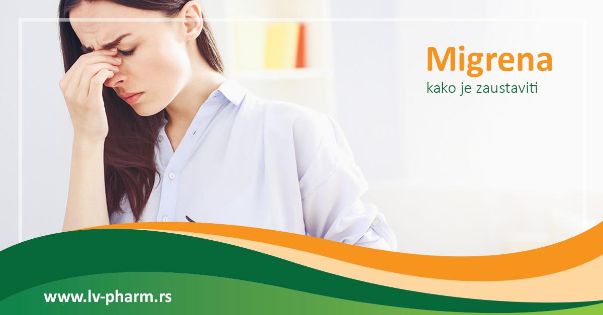 kako zaustaviti migrenu