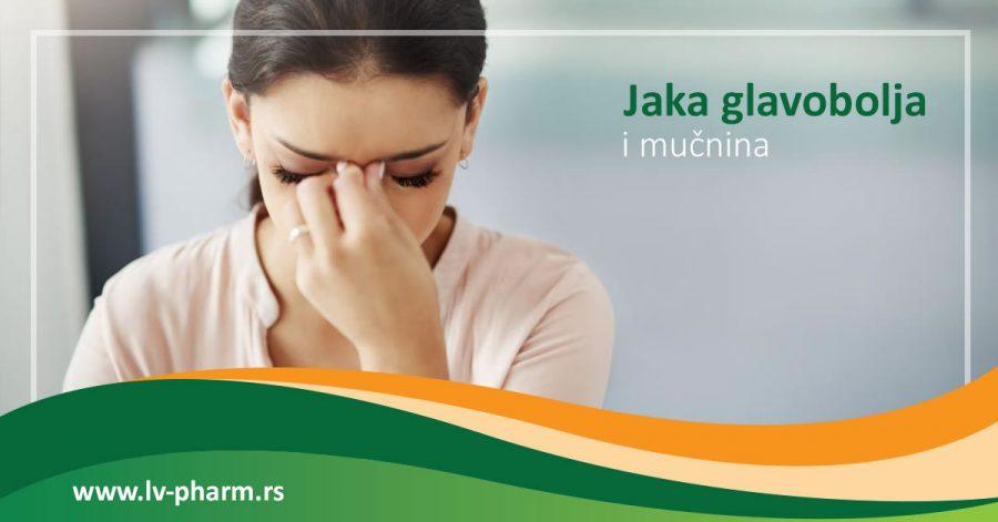jaka glavobolja i mucnina